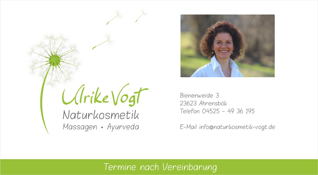 Naturkosmetik Ulrike Vogt - Kontaktdaten